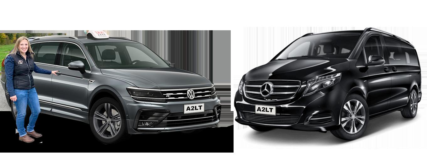 Photo gamme de véhicules haut de gamme A2LT Transports