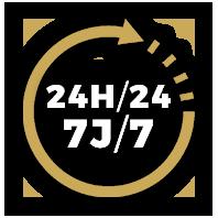 24H/24 et 7J/7